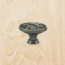 Cabinet Hardware Drawer Oval Knobs ku097 Weathered Nickel Knob