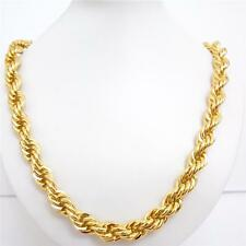10mm 24K Gold Filled Hip Hop Iced Out Rope Dookie Chain Chunky Necklace