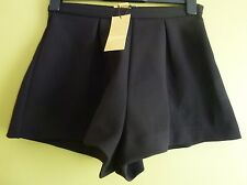 H&M Womens Short Wide-Cut Thick Stretch Fabric Shorts Size 8/34 BNWT Black
