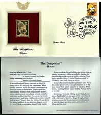 The Simpsons Cover Postal Commemorative Society Proof Replica Stamp 22k Gold  3