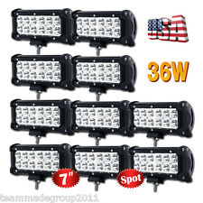 "10x 7INCH 36W LED Work Light Bar CREE Spot Beam Off Road Driving ATV VS 6"" Flood"