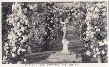 Rose Garden Statue Benvenuto TOD INLET Vancouver Island BC Canada Trio RPPC