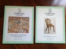 CHRISTIE'S 2 Cataloghi Aste 1986 Continental Furniture, Tapestries, Rugs..
