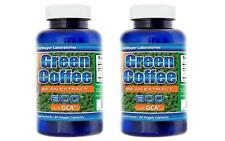2X Pure Green Coffee Bean Extract 800mg Chlorogenic Acid Natural Weight Fat Loss