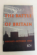 "Original WW2 British ''The Battle of Britain"" Booklet, 1940 d. Printed in Canada"