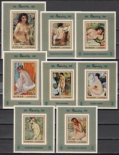 / Ajman, Michel Cat. 853-860 C.  Nude Paintings by Renoir issue as s/sheets.