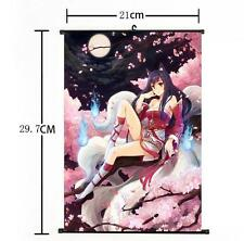 Hot LOL League of Legends the Nine-Tailed Fox Ahri Home Decor Poster Wall Scroll