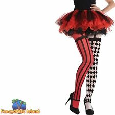 HARLEQUIN CLOWN CIRCUS TIGHTS UK 10-14 womens ladies fancy dress accessory