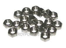 20-SS M8 HEX NUTS 1.25 THREAD PITCH METRIC STAINLESS STEEL TYPE A2 FASTENER 8MM