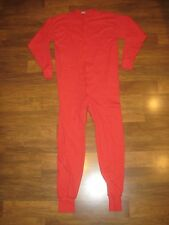 EVA Mens XXL Red ONESIE Sleep Thermal Long John Underwear Pajama Party 2X 2XL