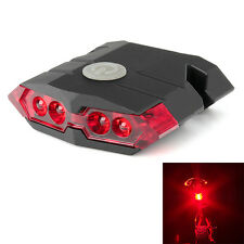 USB Rechargeable 4 LED Bicycle Bike Cycling Front Rear Tail Light Lamp Set