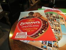 "Schrafft's Famous Chocolates , POSTER , 21"" X 30"" , Vintage , 1980s"