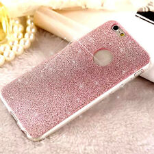 Bling Glitter Sparkle Rubber Soft TPU Silicone Case Cover For iPhone 5 6 6s Plus