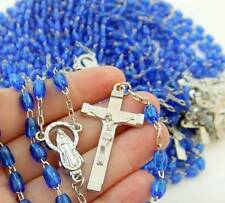 MRT Rosary BULK Wholesale Lot of 10 for Sellers Student Blue Bead Miraculous 18""