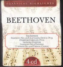4 CD Box Cofanetto BEETHOVEN ♫ CLASSICAL HIGHLIGHTS nuovo