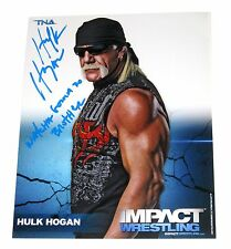 WWE TNA HULK HOGAN P-19 8X10 SIGNED PROMO PHOTO W/PROOF