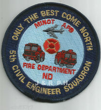 """Minot  A.F.B. - 5th Civil Engineer Squadron, ND  (3.5"""" round size)  fire patch"""