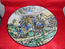 grande piatto istoriato canta galli ginori gualdo tadino faenza diametro 43cm