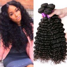 8A 300g/3bundles Unprocessed Brazillian Deep Wave Human Hair 16,18,20