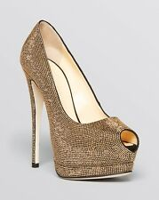 Giuseppe Zanotti Peep Toe Platform Pumps - Sharon Studded High Heel Size 37