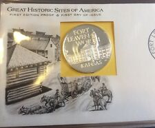 1971 FORT LEAVENWORTH Historic Sites STERLING SILVER COMMEMORATIVE PROOF COIN