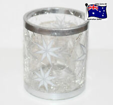 YANKEE CANDLE ** ARCTIC STAR CRACKLE GLASS ** Votive or Tealight HOLDER ~