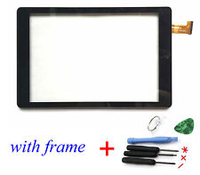 "Front Touch Screen Glass Digitizer for Nextbook Ares 8"" NXA8QC116 With Frame"