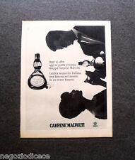 P123 - Advertising Pubblicità -1963- CARPENE' MALVOLTI ACQUAVITE ITALIANA