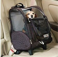 Pet Carrier Cat Dog Travel Bag Soft Sided Airline Approved Portable Rolling Dude
