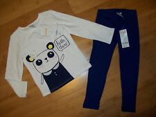 NWT Gymboree Girls Size 3T FLOWER SHOWERS Panda Outfit - Tee / Top & Leggings