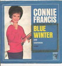 "7"" - CONNIE FRANCIS - BLUE WINTER / SOUVENIRS - MGM -  DE1963"