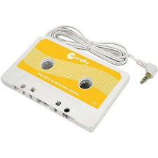Macally Car Auto Stereo Cassette Adapter Yellow for CD MP3 New Free US Shipping