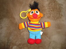 "Sesame Street Ernie Tyco 5.5"" tall 1997 Plush Key Chain Back pack Clip On"