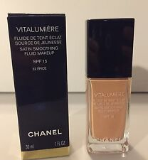 CHANEL VITALUMIÈRE SEIDIGES FLUID-MAKEUP * SATIN SMOOTHING * 32 EPICE * NEU