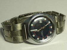 LARGE 1973 Timex Gents Wind-Up Day/Date Dial SUPER - Runs! N/R!