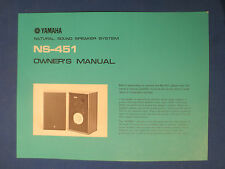 YAMAHA NS-451 SPEAKERS OWNER MANUAL ORIGINAL FACTORY ISSUE
