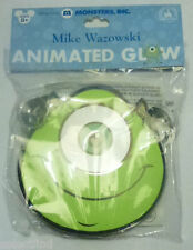 DISNEY MONSTER'S INC. MIKE GREEN W/ EYE LIGHT UP GLOW ANIMATED FACE NECKLACE~NEW