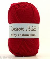 DEBBIE BLISS BABY CASHMERINO x 10 KNITTING YARN 34 RED PACK OF 10 500G