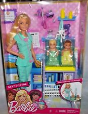 BARBIE 2016 CAREERS BABY DOCTOR DOLL PLAYSET 2 BABIES 3+