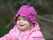 Knitting Pattern - Droplet Flower Hat (Baby and Child sizes)