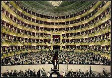 AD1640 Milano - Città - Teatro alla Scala - Interno - Animata