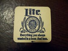 Vintage LITE Beer Bar Coaster Square 2 sided great condition, lot discount