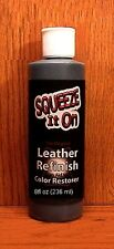 Squeeze it ON 8oz ~ Dark Brown ~  LEATHER Refinish an Aid to Color RESTORER