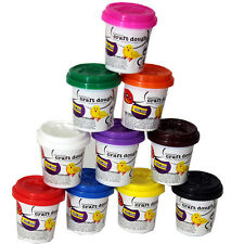 10 X PLAY DOUGH DOH POTS CHILDREN KIDS ART CRAFT MODELLING CLAY FUN MOULD TUBS