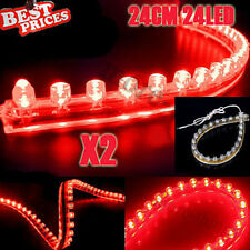 2x rosso 24LED 24CM PVC flessibile impermeabile Acquario Fish Tank Light Strip