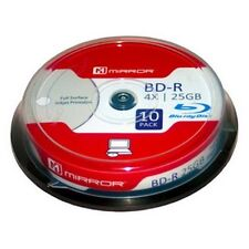 Blu Ray Blank Disc Mirror BD-R Full Surface Inkjet Printable 10 Pack Blank Disc
