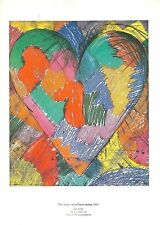 Jim Dine THE HEART CALLED PARIS SPRING Printed by Galerie Maeght 1982