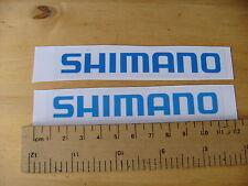 SHIMANO BICI / MTB Decalcomanie AUTOADESIVO BLU una coppia (T3) FREEPOST in tutto il mondo
