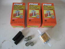 "Fram G3 G-3 3/8"" Inline Plastic Gas/Fuel Filter LOT(3 THREE) w/ Hoses & Clamps"