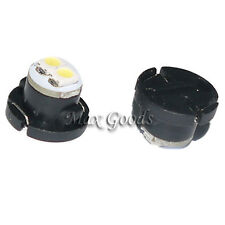 2x T4.7 0.18W 12lm SMD 3528 LED Cool White Sounds Light Cars Lamp 12000K DC12V